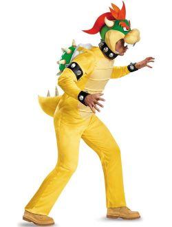 Super Mario: Deluxe Bowser Men's Adult Halloween Costume, XL