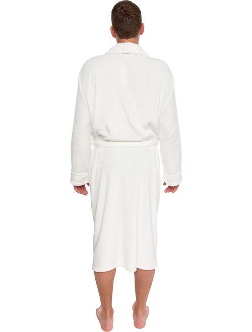 Plush Shawl Kimono Bathrobe for Men Ross Michaels Mens Hooded Robe