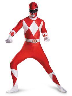 Mighty Morphin Red Ranger Bodysuit Tween/Adult Costume