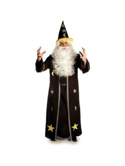 Dark Potion Brown Wizard Open Front Tunic Costume Robe Adult Standard