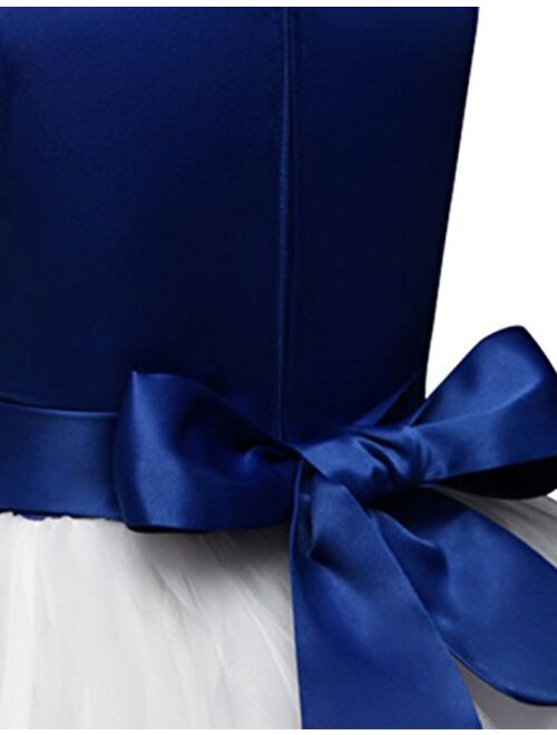 NNJXD Girl Tutu Flower Petals Bow Bridal Dress for Toddler Girl