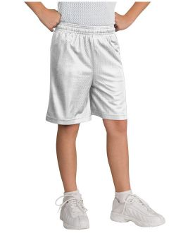 Kids Mesh Shorts Gym Soccer Basketball Athletic Casual Activewear