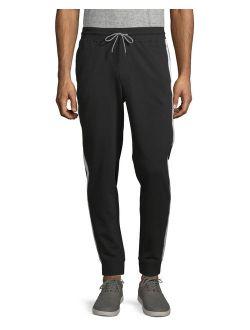 Men's Knit Solid Stripe Jogger Pants