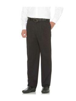 savane men's big and tall pleated performance chino pant, black, 44w x 28l