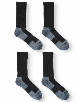 Men's Midweight Industrial Strength Performance Crew Sock, 4-Pack