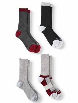 Men's Sustainable Repreve Comfort Crew Socks, 4-Pack