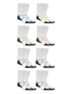 Men's Breathable Crew Socks 8 Pack