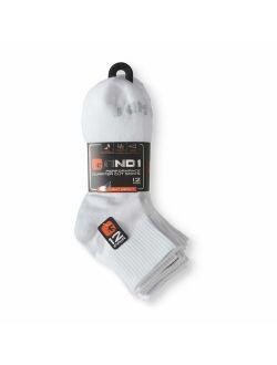 Men's Lightweight Quarter Cut Performance Socks, 12-Pack