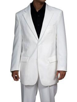 Mens White Dress Suit - Includes Jacket & Pants