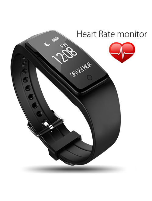 OLED Touch Screen Waterproof bluetooth Sports Fitness Tracker Bracelet Smart Wrist Watch Band for iPhone & Android, Support multi-language, Heart Rate, Sleep Monitoring
