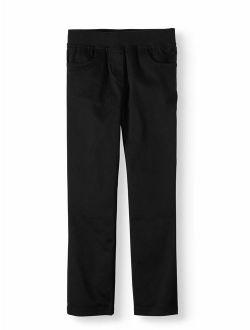 Girls Plus School Uniform Stretch Twill Pull-on Pants (plus)