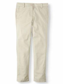 Girls School Uniform Stretch Twill Skinny Pants (little Girls & Big Girls)