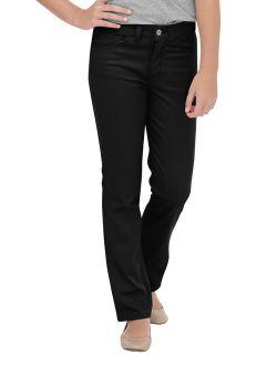 Girls School Uniform Skinny Fit Straight Leg 5-pocket Stretch Twill Pants (big Girls)