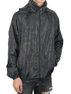Men's Lightweight Windbreaker Jacket Uv Protect Quick Dry Outdoor Packable Rain Coat Zip-up Hoodie Sport Windbreaker