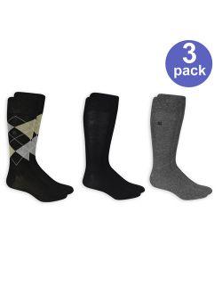 Argyle Dress Socks, 3 Pairs
