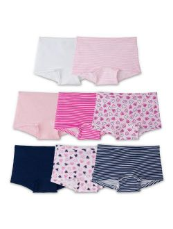 Assorted 100% Cotton Boy Short Panties, 8 Pack (little Girls & Big Girls)