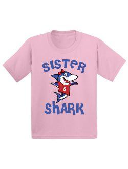 Awkward Styles Sister Shark Toddler Shirt Shark Family Shirts Kids Shark T Shirt Matching Shark Shirts for Family Shark Birthday Party for Girls Shark Party Outfit