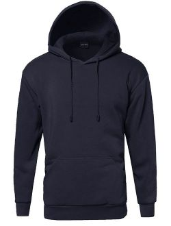 FashionOutfit Men's Basic Pullover Fleece Hooded Sweatshirt