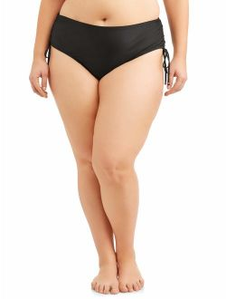 Women's Plus-size Core Ruched Brief Swimsuit Bottom