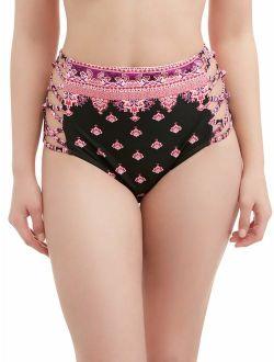 Women's Moroccan Jewel High-waist Swimsuit Bottom
