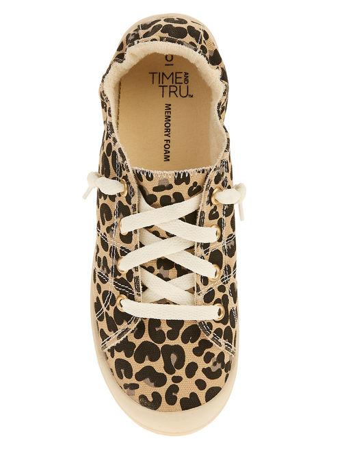 Women's Time And Tru Scrunch Back Canvas Shoe