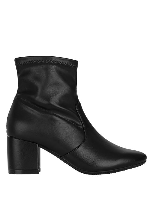 Time and Tru Black Synthetic Mid-Length High Heel Boots
