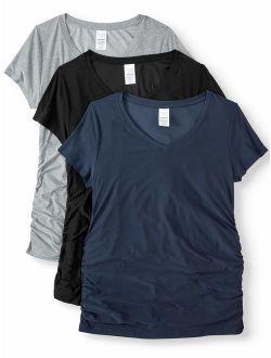 Maternity Basic Short Sleeve T-shirt, 3 Pack