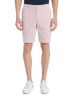 Classic-Fit Seersucker Flat-Front Shorts