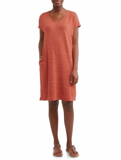 Time and Tru Women's Hacci T-shirt Dress