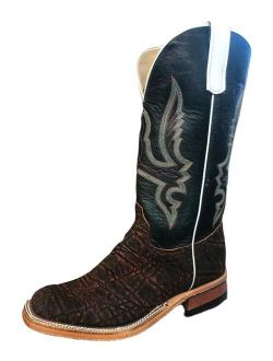 Olathe Western Boots Mens Leather Cowboy Elephant Skid Row 8.5 D 8021