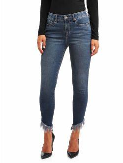 Sofia Jeans Rosa Curvy High Waist Fringed Hem Ankle Jean Women's (Dark)