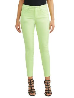 Sofia Skinny Mid Rise Stretch Ankle Twill Jean Women's (lime)