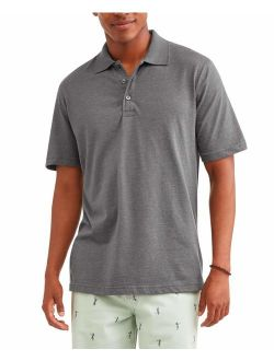 Men's Short Sleeve Solid Jersey Polo, Up To 5xl