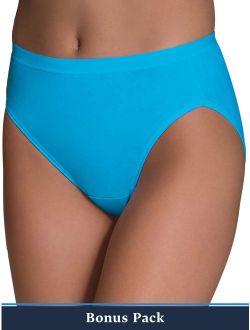 Women's 6+3 Bonus Pack Assorted Cotton Hi-cut Panties