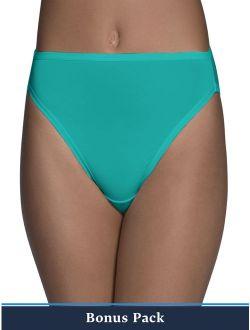 Women's 6+2 Bonus Pack Assorted Microfiber Hi Cut Panties