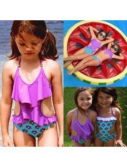 Toddler Baby Kids Floral Bikini Swimsuit Swimwear Tankini Bathing Suit One-piece