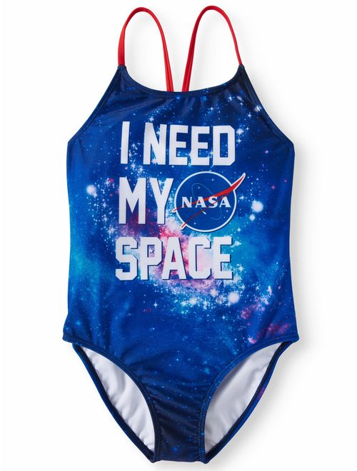 I Need My Space One-Piece Swimsuit (Little Girls & Big Girls)