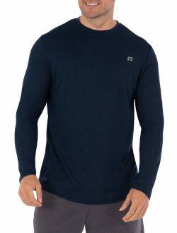 Men's Active Performance Crew Neck Long Sleeve Shirt