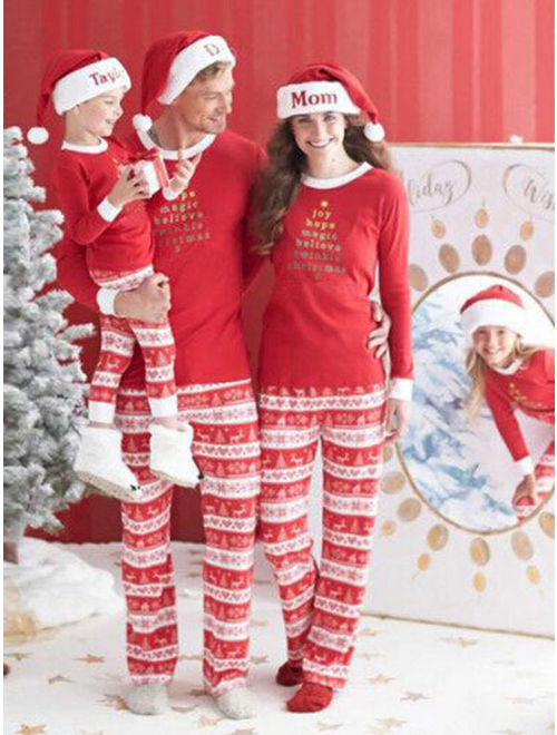 Starvnc Family Cute Matching Children Adult Pajamas Set Sleepwears