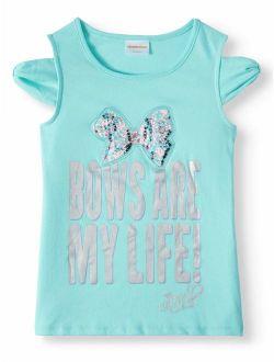Nickelodeon JoJo Siwa Bows Are My Life Cold Shoulder T-Shirt (Big Girls)