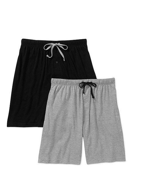 Hanes Big & Tall Men's 2-Pack Knit Sleep Jam Short