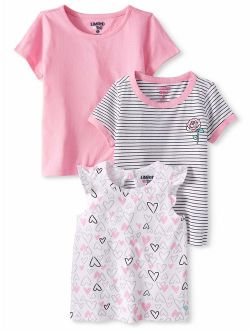 Ruffle Sleeve, Striped & Solid T-shirts, 3-pack (baby Girls & Toddler Girls)