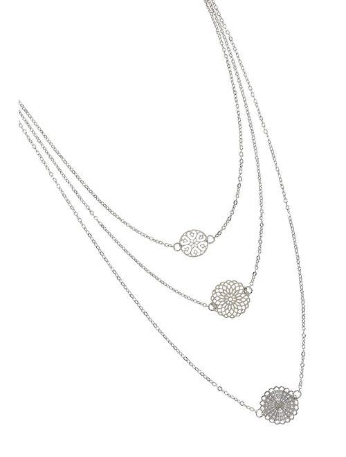 Layered Cutout Necklace