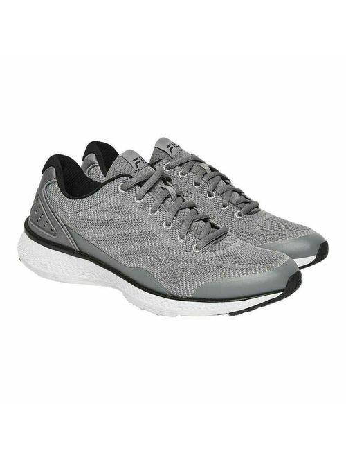 Fila Men's Memory Foam Athletic Running Shoes(Grey/Black, 10.5 M US)