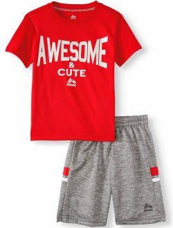 Short Sleeve Graphic T-shirt & Tech Fleece Short, 2pc Active Set (toddler Boys) (toddler Boys)