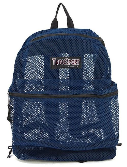 Travel Sport Transparent See Through Mesh Backpack/ School Bag
