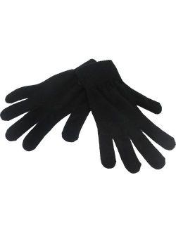 Magic Plain Knit Mens Gloves [Black - L]