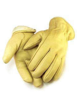 Mens Full Grain Tan Deerskin Gloves Lined 40 gram 3M Thinsulate 013T
