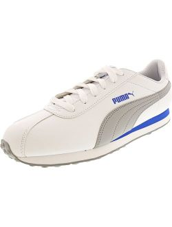 Men's Turin White / Quarry Ankle-high Leather Fashion Sneaker - 10.5m