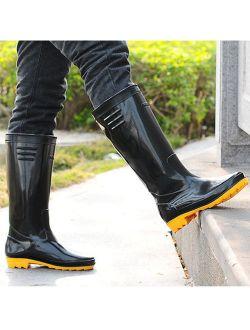 Mens' Basic Rain Boots Black Size 8.5